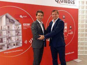 Monsieur Emmanuel Croc (CEO - OCEA Smart Building) et Monsieur Dieter Berndt (CEO – QUNDIS)